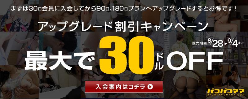 パコパコママにてアップグレード割引キャンペーン開始!!9/4まで~!